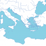 blank map of the Mediterranean