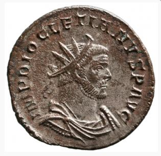 an antoninianus of Diocletian http://numismatics.org/ocre/id/ric.5.dio.4
